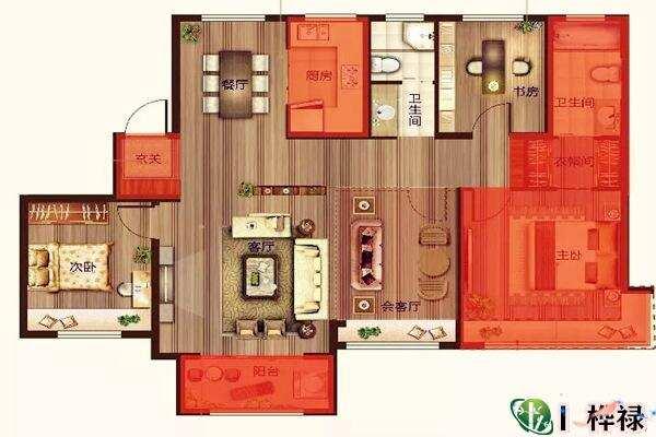 什么房子越住越富户型图  第1张