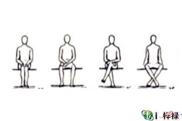 坐姿看男人性格  第1张