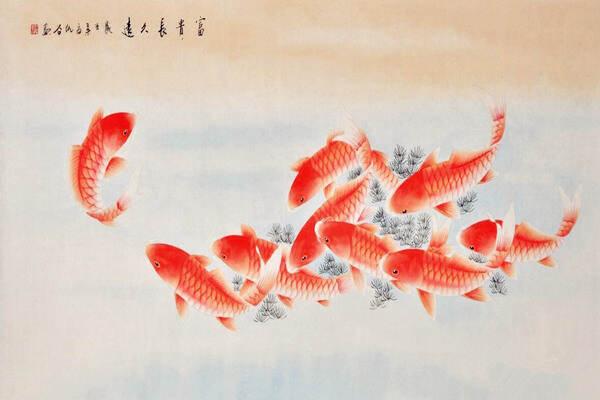 风水中鲤鱼图有什么寓意  第2张