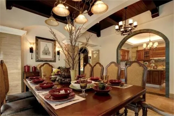别墅餐桌摆放位置风水