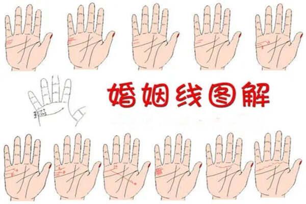 面相基础:手相婚姻线的看法